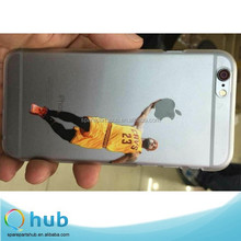 Customized New Basketball Player Transparent Hard plastic PC Back Case For iPhone 5-5s-6-6-Plus