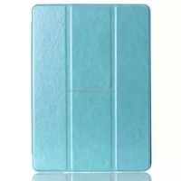 Crazy horse pattern leather Tri-folding flip case for iPad air 3