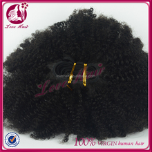 100% remy hair small wave kinky curly natural color / cheap human hair weaving Brazilian curly hair
