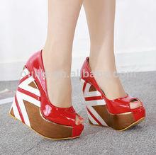 de nuevo y popular zapatos de las mujeres cuñas emocionante py3048 calzado