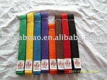 Taekwondo color belts