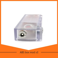 abs box mod Fit for all 510 atomizers 2015 good quality electronic cigarette clear abs box mod with led light