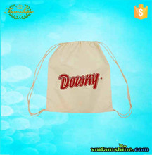 customized natural cotton drawstring bags