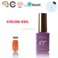 2015 Cosmetic gel led uv nail gel polish with curing lamp for gel polish brand