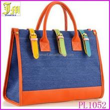 Hot New 2015 Hit Color Canvas Handbag Fashion Women's Shoulder Bag Splice Casual Messenger Bag