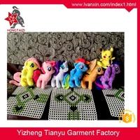 Low price cute design coloful rainbow horse plush my little pony toys
