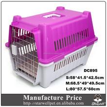 moq basso grandi dimensioni maniglia di plastica cane gatto vettore con ruote
