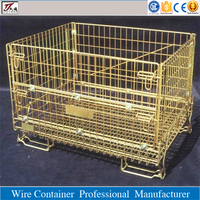 Large welded mesh folding forklift safety cage