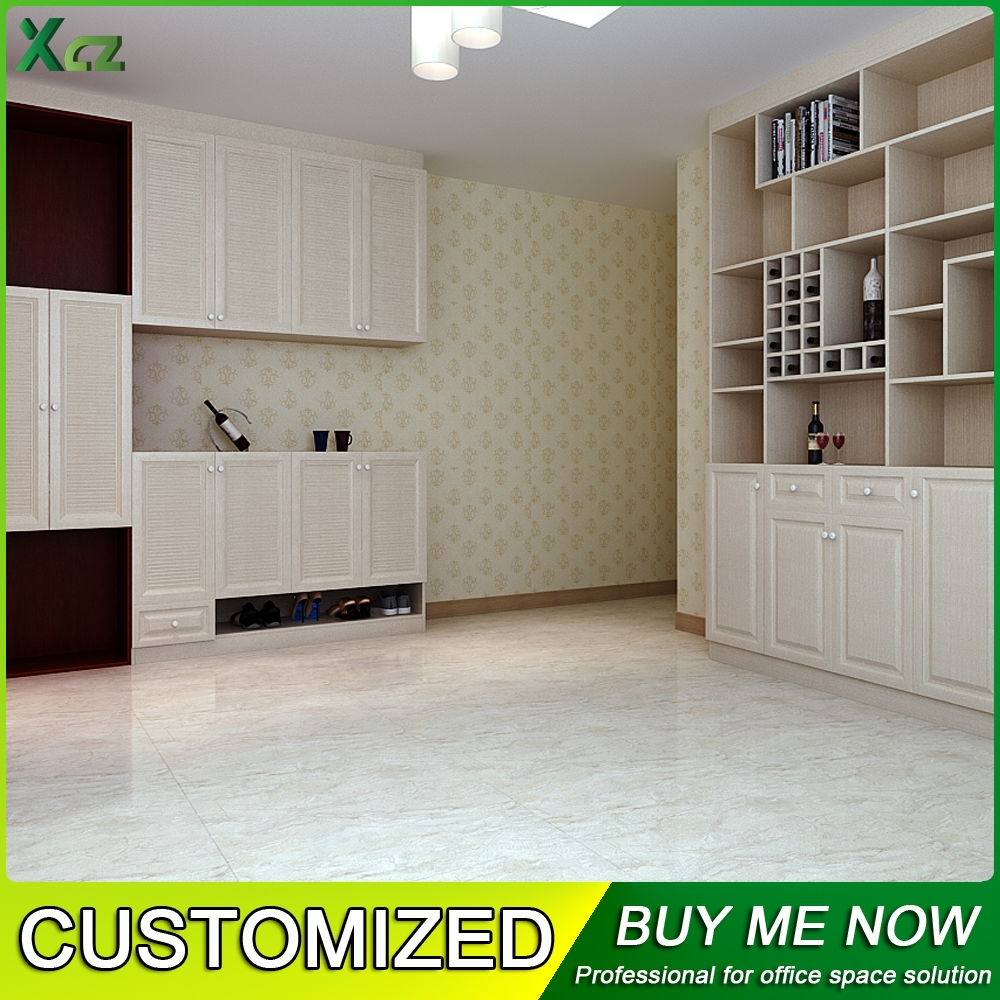 customized storage cabinet living room wood furniture for sale