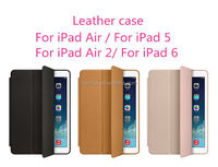 Mobile accessories 3 folded styles Stand Flip Leather Ultra Thin Smart Cover case for ipad air alibaba china