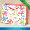 Colorful printed paperboard birthday gift paper bag with handle