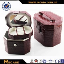 Professional jewelry box packing leather gift craft case for necklaces