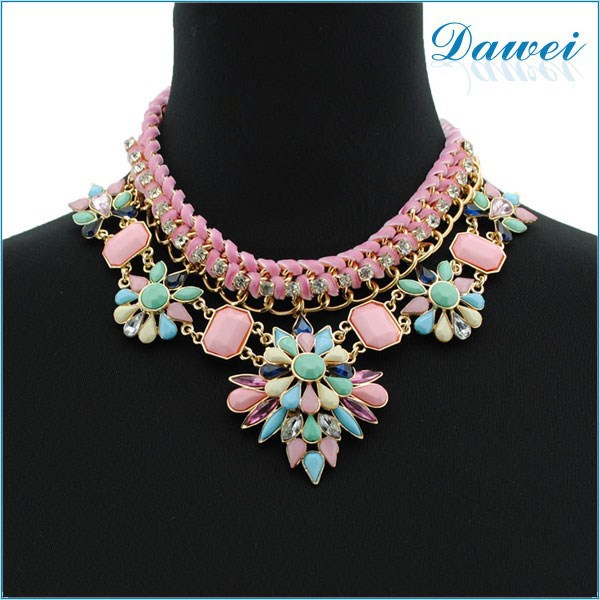Wholesale large vintage costume jewelry statement necklace buy