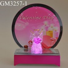 Led light desk decoration for valentine gift