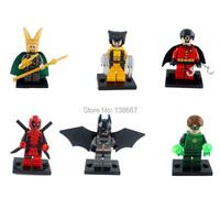 44pcs/лот чудо супер герой человек-паук/Халк цифры строительные блоки задает минифигурок Классические игрушки кирпичи совместимы с lego