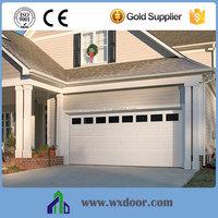 Metal sectional garage door window inserts