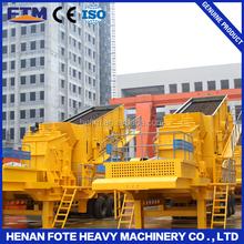 90-180t/h High Efficiency Mobile Stone Coal Ore Crushing Cone / Impact Crusher + Vibrating Screen