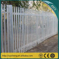 2015 design steel palisade fence/ iron euro metal palisade fence for sale