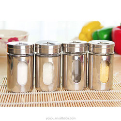 Kitchen Fashion Minimalist Stainless Steel Seasoning Cans Salt and Pepper Shaker Spice box
