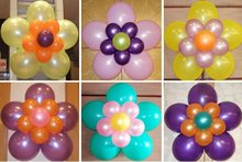 beautiful and colorful latex balloon for decoration