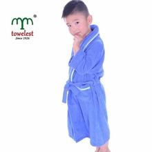MMY Hot Sale Cotton Terry Boy/Girl Bathrobe Kids Robe with Shawl Collar