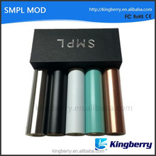 SMPL Mod Full Machanical Mods Red Copper SS Black Brass white SMPL Mod clone fit 18650 Battey rda rba atomizer vs manhattan