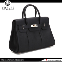 Wishche Wholesale 2016 New Fashion Ladies Genuine Leather Handbags Famous Designer Handbag Guangzhou Leather Bags Women W6858