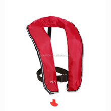 Hot sale marine red inflatable life jacket