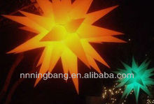 Multi-color led light decoration inflatable star for party or festival celebration