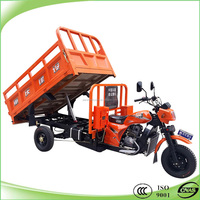 200cc water cooling three wheel tricycle with hydraulic tipping