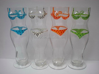 HAND-PAINTING WOMEN BODY BEER GLASS