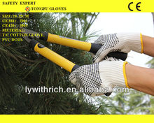 working cotton gloves one side PVC dotted 650g/700g/750g