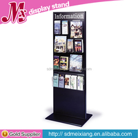 MXJ025 wooden greeting card display stands / brouchre stand rack / magazine dsiplay shelf