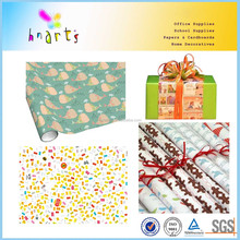 Custom gift wrap paper manufacturer/Snow Man Kraft Gift Wrapping Paper