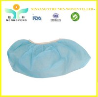 CE & ISO Approved factory direct supply pp non-woven Disposable elastic PP Non-woven shoe cover with best price for sale