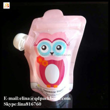Stand up squeeze spout pouch for baby food/jelly/juice/soup baby food resealable bags