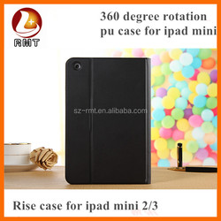 Brand design dynamic folding stand leather case for ipad mini