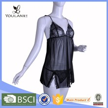 black manufacturer hot best price night dress lingerie sexy lingerie sleep wear