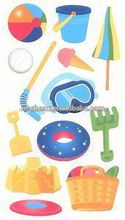 venta caliente coustom juguetes de playa sticko pegatinas anti radar de etiqueta