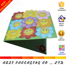 customized lovely A4 size sunflower popup card for children's day