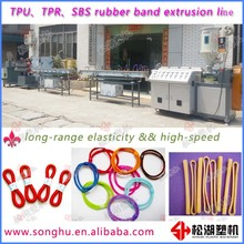Elastic TPU TPR SBS rubber band making machine for tying up crab