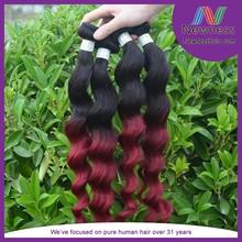 Newness peruvian virgin hair weft double machine weft One piece hair extension