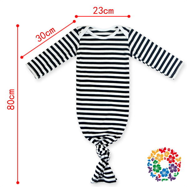 Newest Cute Newborn Baby Sleep Sack Nightgown Striped Knotted ...