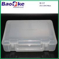 Clear empty plastic medical box/first aid kit box