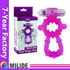 New Arrival vibrating cock ring,man cock ring,dual rings vibe