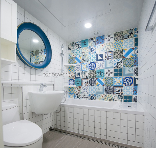 bathroom design black subway 4x4 decorative tile