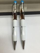 hot selling beautiful white liquid metal pen