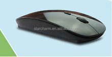 Black Slim 2.4G Wireless Mouse for Macbook and PC, ultra slim bluetooth mouse