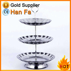 Hotel party stainless steel fruit and cake serving tray