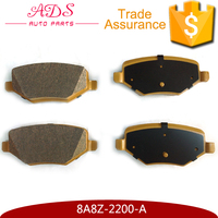 8A8Z-2200-A Low Metal seramic No Noise No asbestos red yellow Rear car Brake Pads for EDGE 2.4T/ 3.5 11-